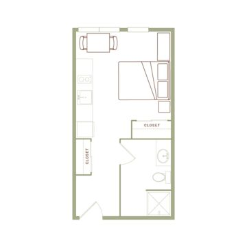 Apartment 517 floor plan