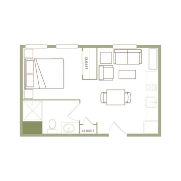 Apartment 430 floor plan