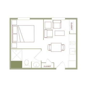 Apartment 313 floor plan