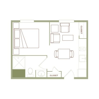 Rendering of the Buell REV floor plan layout