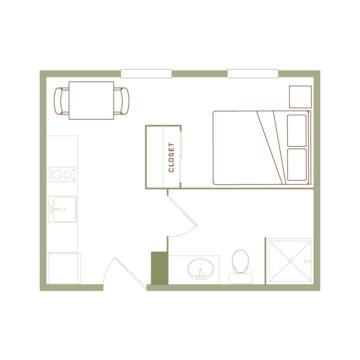 Apartment 508 floor plan