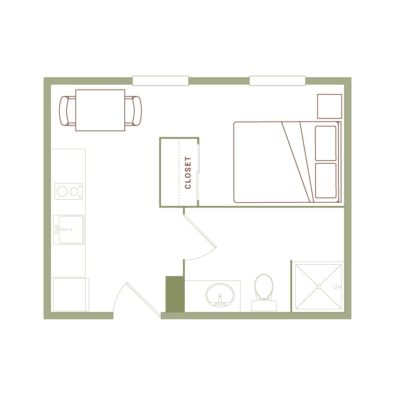 Rendering of the Deaton floor plan layout