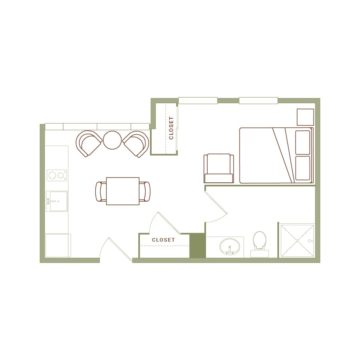 Apartment 431 floor plan