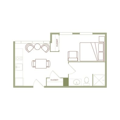 Rendering of the Edbrooke floor plan layout