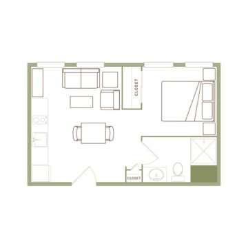 Apartment 412 floor plan