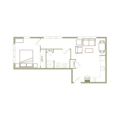 Rendering of the Gagnon floor plan layout