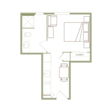 Apartment 401 floor plan