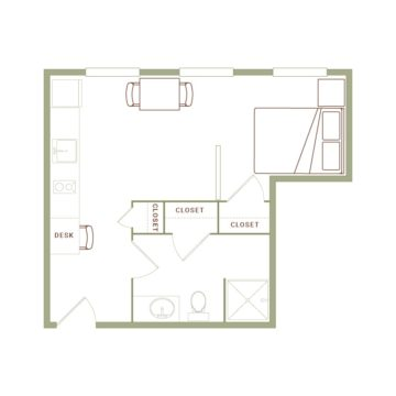 Apartment 509 floor plan
