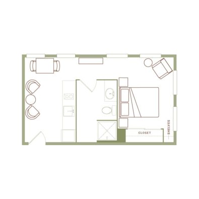 Rendering of the Hoyt floor plan layout