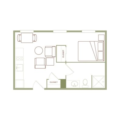 Rendering of the Johnson floor plan layout