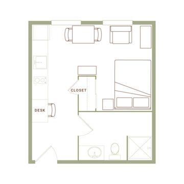 Apartment 407 floor plan