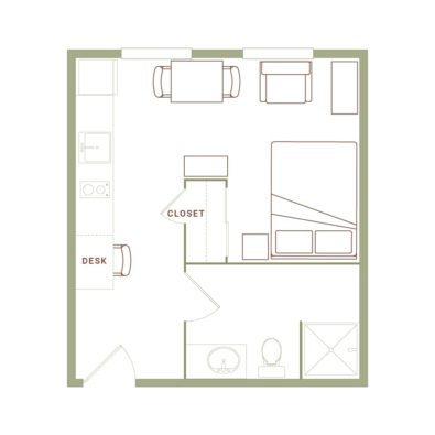 Rendering of the Lang floor plan layout