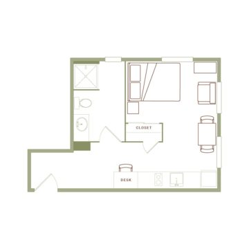 Apartment 203 floor plan