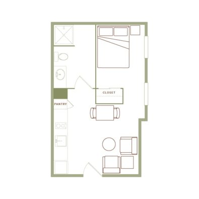 Rendering of the Myers floor plan layout