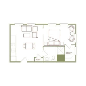 Apartment 223 floor plan