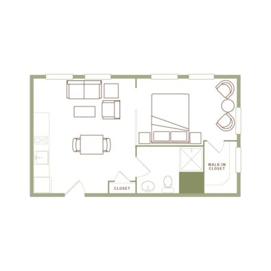 Rendering of the Norton floor plan layout