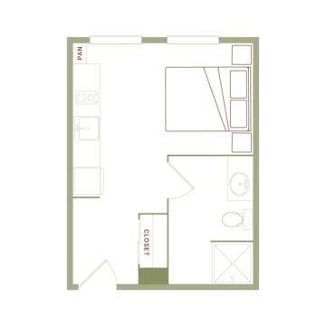Apartment 437 floor plan