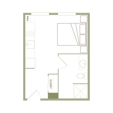 Rendering of the Sterner floor plan layout