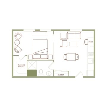 Apartment 219 floor plan
