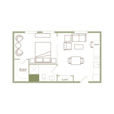 Rendering of the Williamson floor plan layout